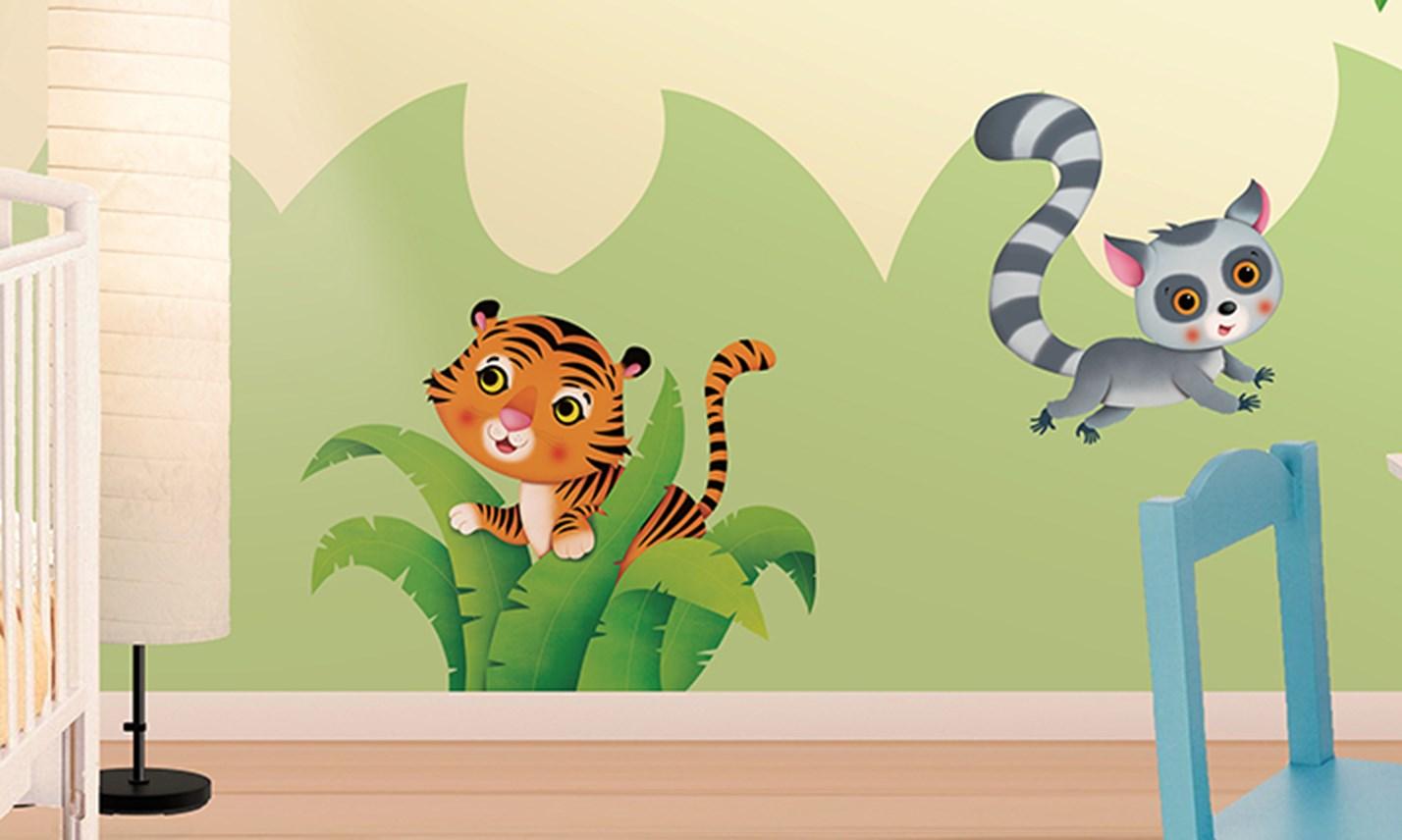 Stickers murali bambini cameretta nella foresta - Stickers per pareti cameretta bambini ...